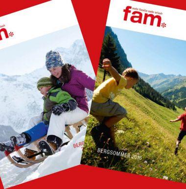 fam Katalog, Kinderhotels in Vorarlberg, Österreich