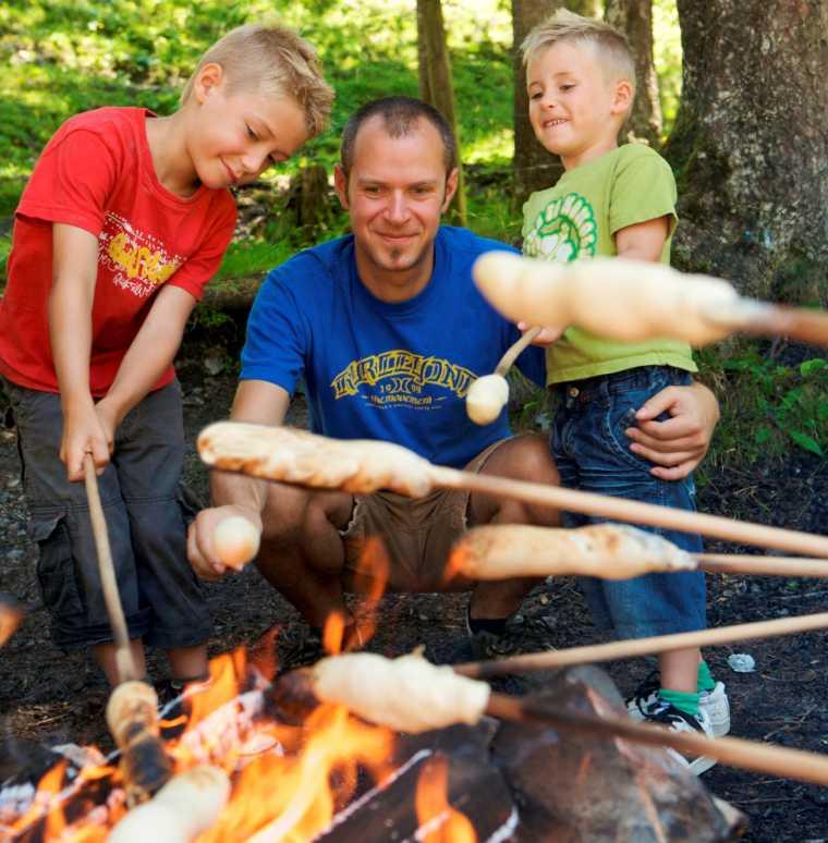 Eltern-Kind-Erlebnisse in den Familienferien, Hotel Lagant