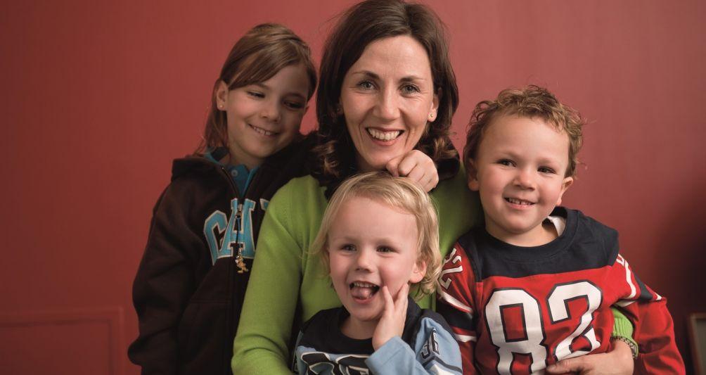 fam Familienhotels Inhaberin Andrea Schwärzler mit Familie